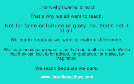 An open letter to my fellow classroom teachers the write teachers screen shot 2013 12 23 at 25638 am spiritdancerdesigns Image collections